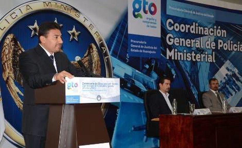 El Procurador de Justicia de Guanajuato, Carlos Zamarripa, durante la clausura del curso de operaciones contrainsurgencias. (Milenio)
