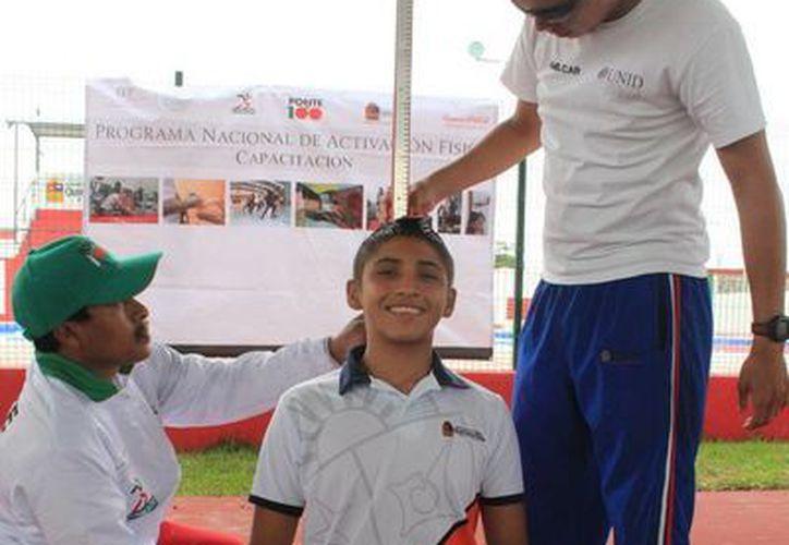 Durante el evento se realizaron varias actividades físicas.(Redacción/SIPSE)