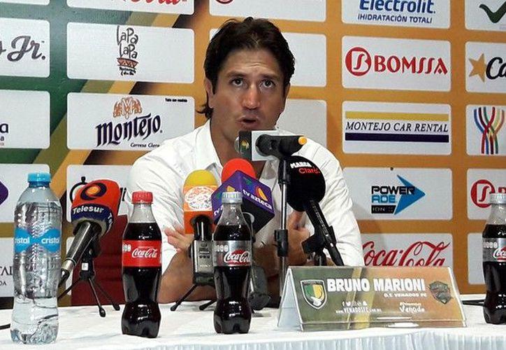 Se le vio incómodo a Bruno Marioni al hablar sobre su andadura en Mérida. (Foto archivo Pressport)