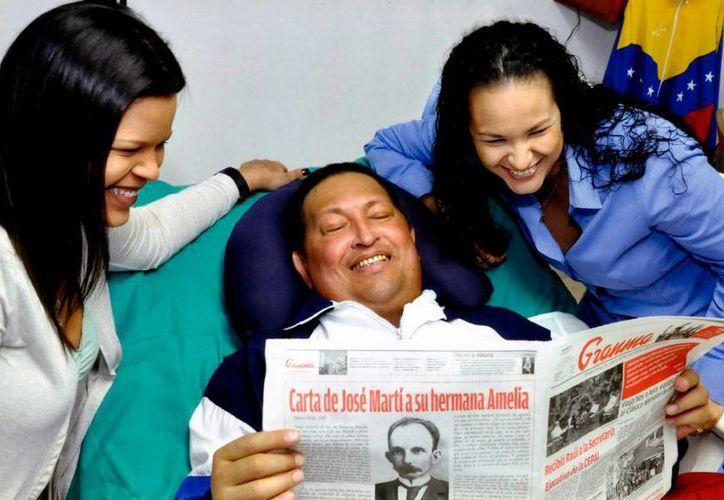 Gráfica de Archivo de la última aparición publica de Hugo Chávez. (Archivo)