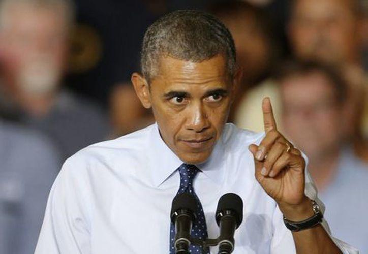 Obama habló en un acto en Missouri entre aplausos de sus simpatizantes. (Agencias)