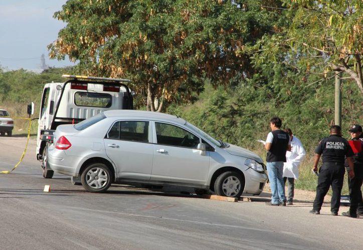 Un motoclista perdió la vida en la carretera federal Mérida-Umán este sábado. (SIPSE)