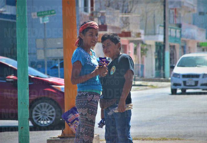 El trabajo infantil no puede ser detenido tan fácilmente, indica el DIF. (Alejandra Carrión/SIPSE)