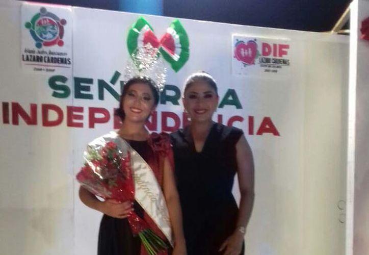 Alejandra Berenice Medina Chin fue elegida como Señorita Independencia. (Gloria Poot/SIPSE)