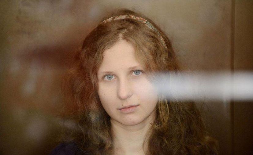 Maria Alejina escribió que los guardias de la prisión han intentado poner en su contra a sus compañeras presas. (Agencias)