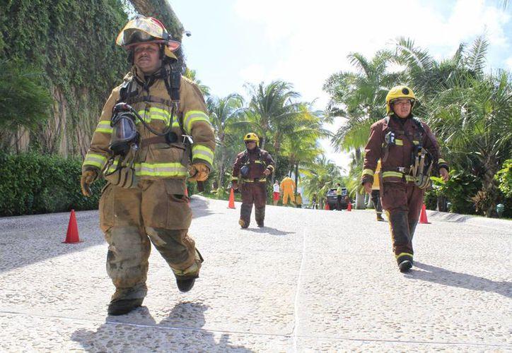 El personal del área de Capacitación y Difusión de Protección Civil. (Sergio Orozco/SIPSE)