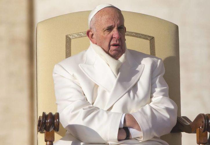 El Papa Francisco visitará México del 12 al 17 de febrero. Imagen del Pontífice durante su más reciente audiencia pública en la Plaza de San Pedro. (Agencias)
