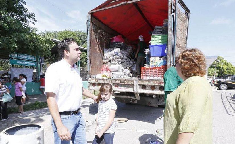 En el parque de La Ceiba se registró un acopio de 26.4 toneladas de residuos sólidos. (SIPSE)