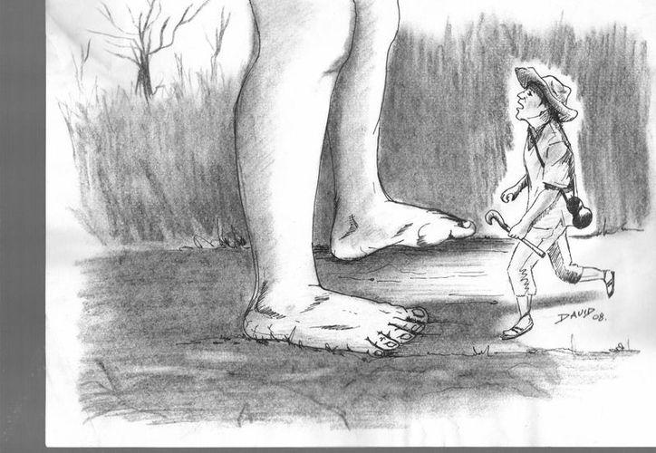 El pequeño campesino osó exigir agua para su milpa, pero los Dioses lo menospreciaron. (Jorge Moreno/SIPSE)