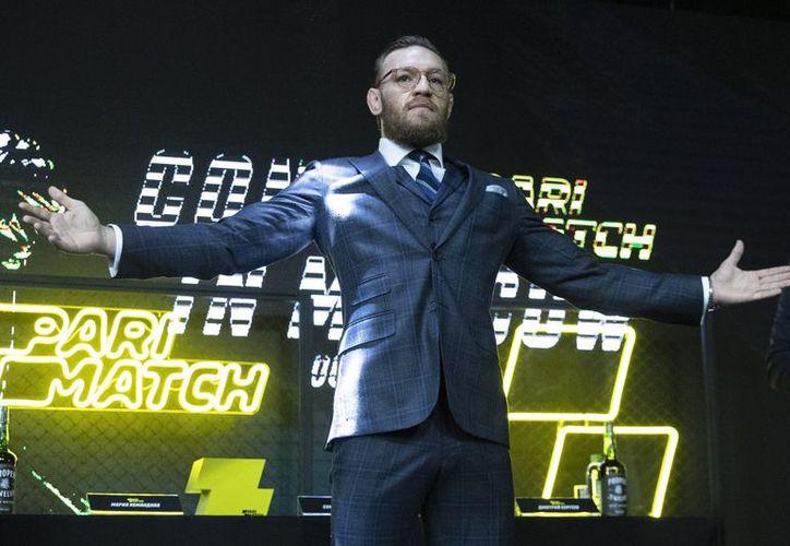 Conor McGregor tiene 21 victorias y cuatro descalabros en la UFC. (Archivo/AP)