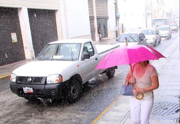 Durante dos horas Mérida se vio afectada por los encharcamientos ocasionados por la lluvia.  (José Acosta/SIPSE)