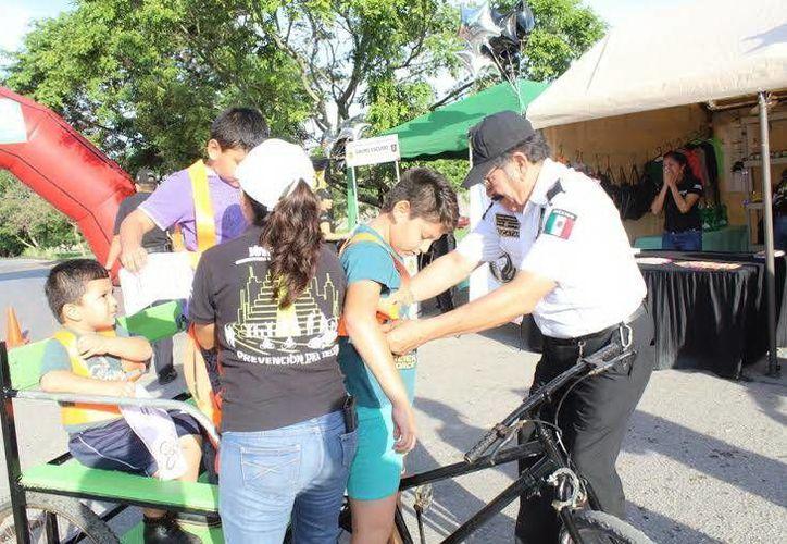 Jornada de educación vial a cargo de la Secretaría de Seguridad Pública en la colonia Los Reyes. (Milenio Novedades)