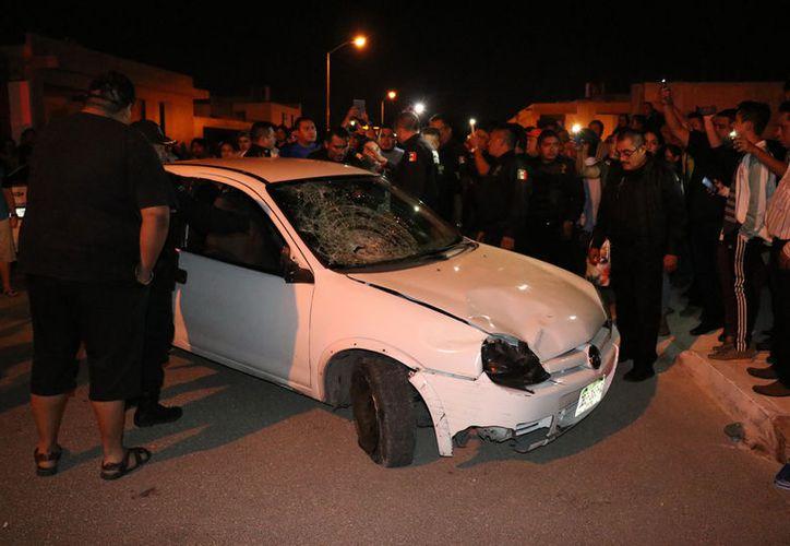 En el accidente, el guiador ebrio atropelló a una señora con sus dos hijos, y uno de los menores quedó muy mal herido.
