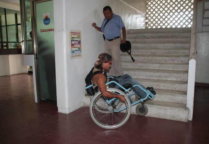 En Cozumel se retomó el programa que fomenta el respeto hacia los discapacitados. (Redacción/SIPSE)