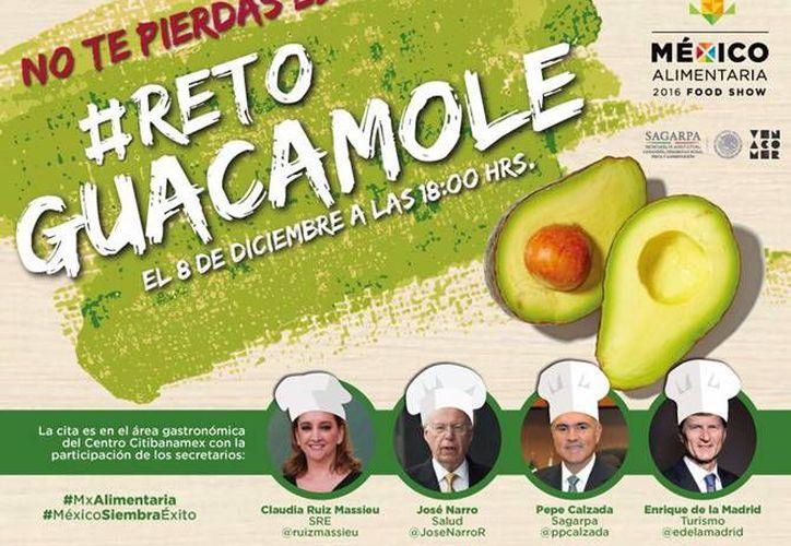 El titular de la Sagarpa, José Calzada, lanzó el #RetoGuacamole a los secretarios de la SRE, Turismo y Salud. (gob.mx)