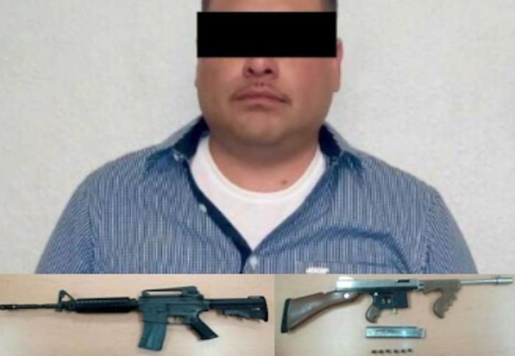 Roberto G. M, El Mudo, jefe de La Línea, brazo armado del cártel de Juárez, fue detenido este sábado en Chihuahua. (Foto tomada de tiempo.com.mx)