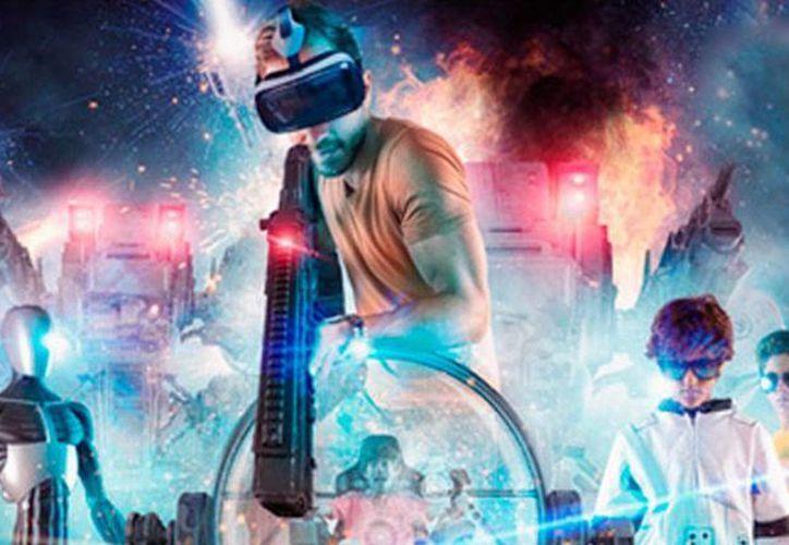 El área de realidad virtual es una de las nuevas atracciones de Ventura Park en Cancún. (Cortesía/Facebook)