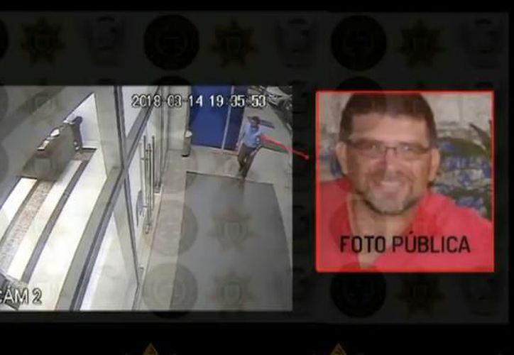 """En el recuadro, el chofer de """"Uber"""" asesinado,  Néstor Mariano Marín Zapata. (Archivo)"""