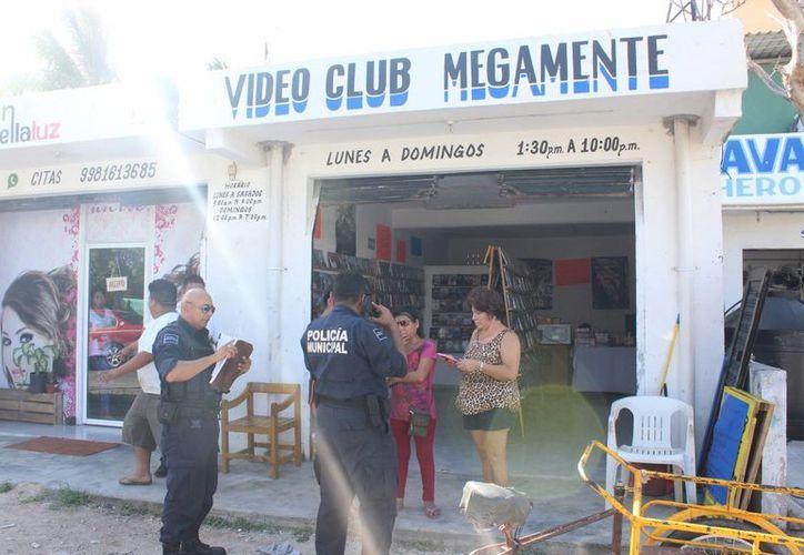 Una mujer fue asaltada con violencia dentro de un videoclub, en la Supermanzana 233 de Cancún. (Josue Massa/SIPSE)