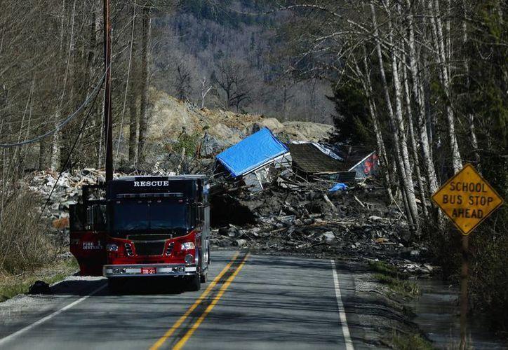 Una casa destruida por un deslave en la carretera 530 el pasado domingo cerca de Oso, en el estado de Washington. (Agencias)