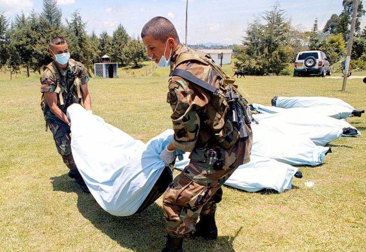 Soldados de la Brigada Móvil 33 se enfrentaron a los rebeldes en la vereda El Perdido, municipio de San Calixto, departamento de Norte de Santander. (EFE/Archivo)