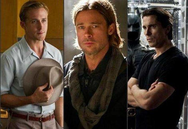 Brad Pitt (c), jefe de la productora Plan B, unirá su talento actoral al de Ryan Gosling y Christian Bale en la cinta 'The Big Short'. (Foto especial)