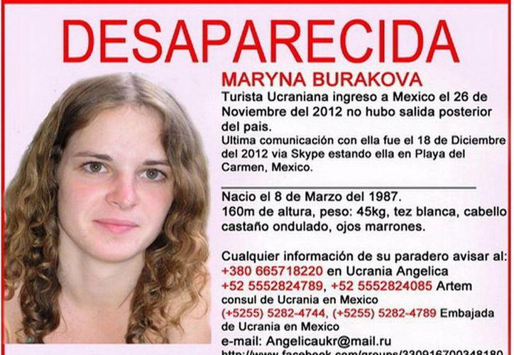Se desconoce el paradero de Maryna Burakova. (SIPSE)