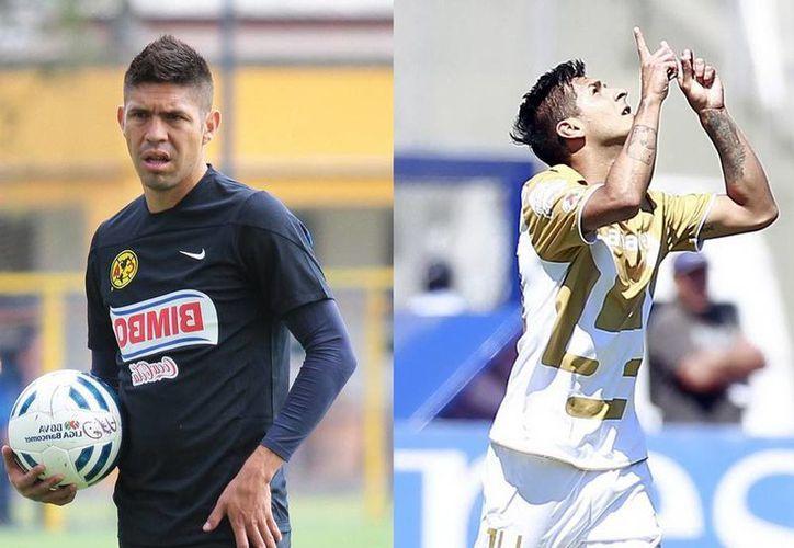 Oribe Peralta (i) e Ismael Sosa son los jugadores más caros de sus clubes, según transfermarkt.com, especialista en costos de futbolistas de todo el mundo. (Notimex)