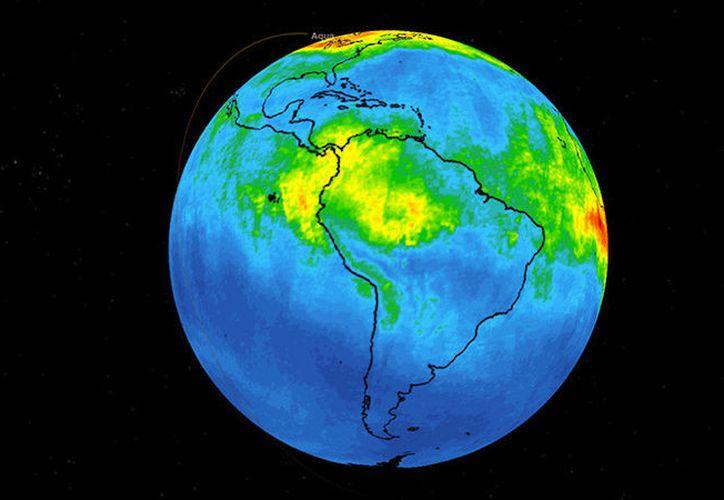 Imagen del mapa tridimensional de la NASA que muestra la emisión de monóxido de carbono. (Foto: NASA)