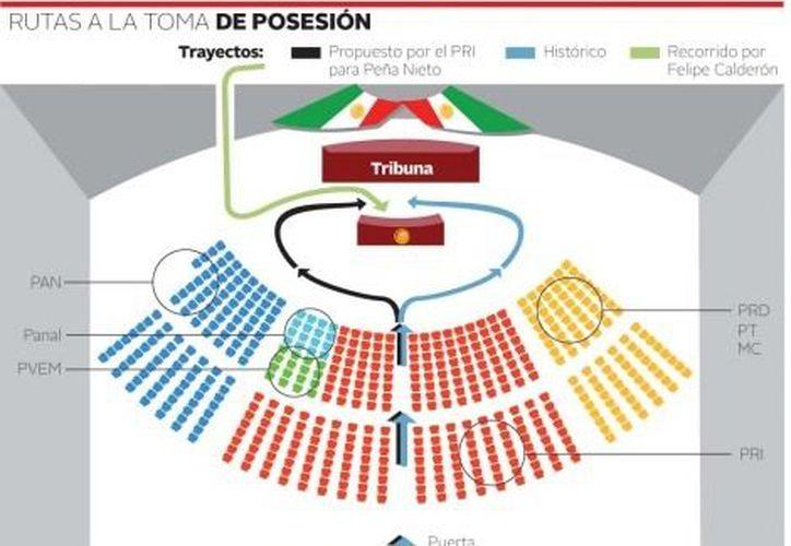 Descartan priistas una sede alterna al Palacio de San Lázaro para la toma de protesta de Peña Nieto. (Milenio)