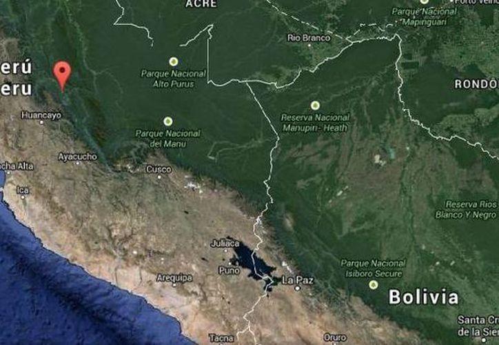 El epicentro del sismo de Perú se ubicó a 86 kilómetros al noreste de la ciudad de Satipo. (Google Maps)
