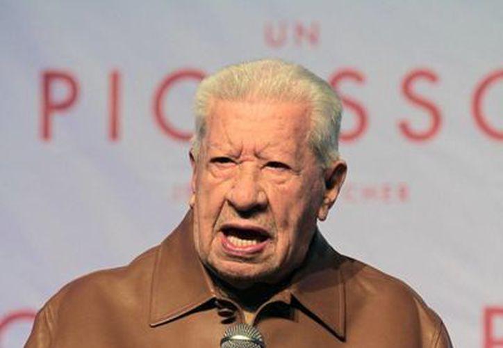 A sus 91 años de vida, Ignacio López Tarso continúa en el mundo artístico protagonizando la obra teatral 'Un Picasso', la cual se presenta en el teatro San Jerónimo de la Ciudad de México. (Notimex)