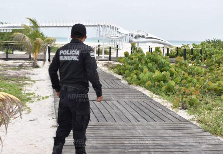 Autoridades municipales se encargarán de la vigilancia de la estructura. (Gerardo Keb/Novedades Yucatán)