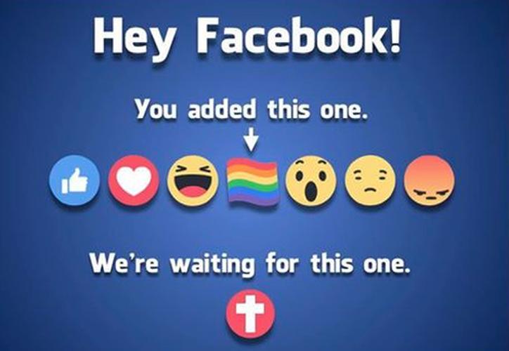 Facebook no tiene planes de incluir la cruz cristina entre las opciones de las reacciones. (Facebook/Joshua Feuerstein).