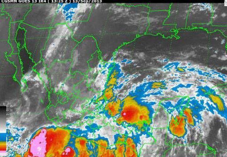 Desarrollará lluvias fuertes en Quintana Roo, la temperatura máxima será de 28 grados centígrados. (Conagua)