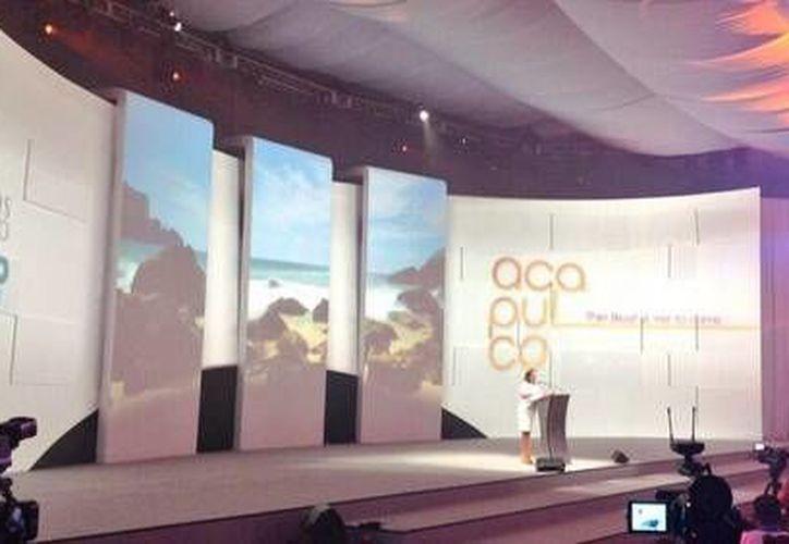 Proyectaron un video promocional de Acapulco, próxima sede del Tianguis Turístico. (Redacción/SIPSE)