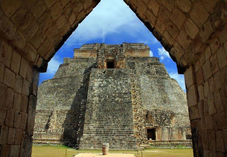 El Templo del Adivino de Uxmal, de lo más representativo de la zona. (Milenio Novedades)