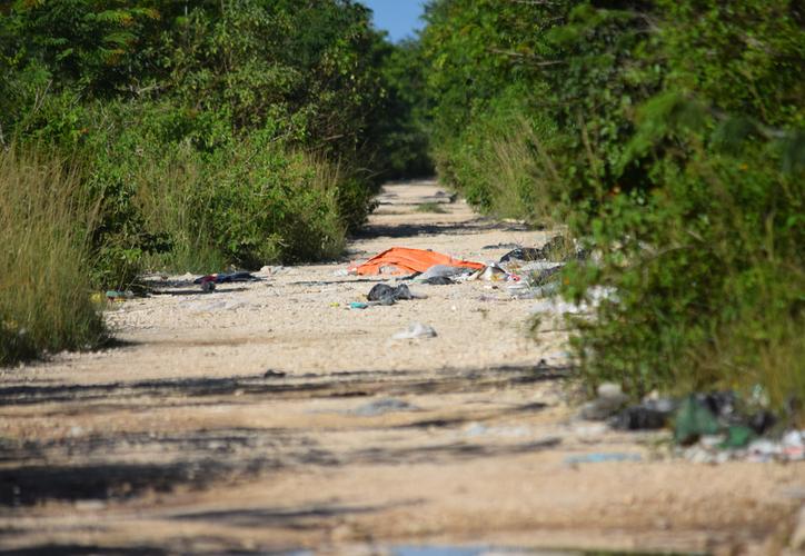 el área, propiedad del estado se ha convertido en depósito de desechos a cielo abierto. (Gustavo Villegas/SIPSE)