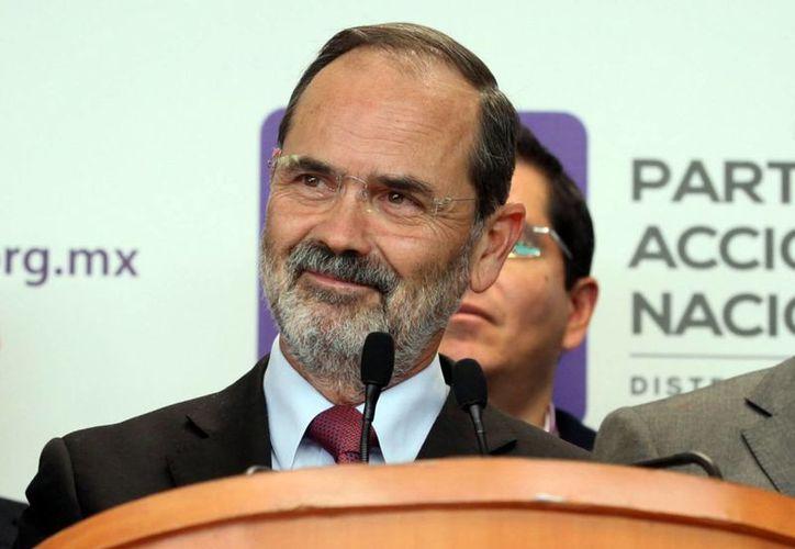 Gustavo Madero asegura que renunciará a la dirigencia del PAN cuando existan condiciones para ello. (Notimex)