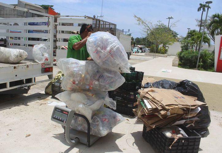 El reciclatón se realiza el último viernes de cada mes. (Sara Cauich/SIPSE)