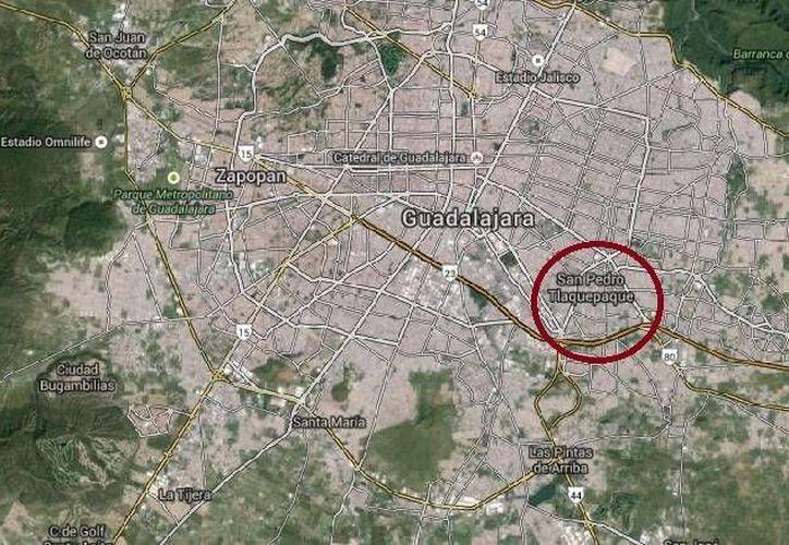 El regidor de Tlaquepaque, Feliciano García Fierros, fue ultimado la tarde de este sábado en una carretera de Tlaquepaque, Jalisco. (Google Maps)