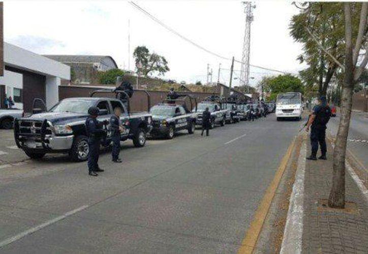 Se logró la detención de siete presuntos integrantes de una célula delincuencial. (@MICHOACANSSP)