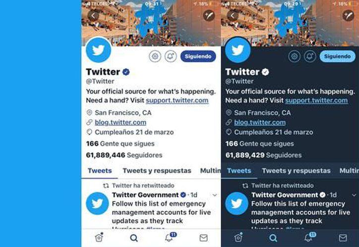 Utiliza el 'Modo Nocturno' de Twitter en tu celular y computadora. (SDP noticias).