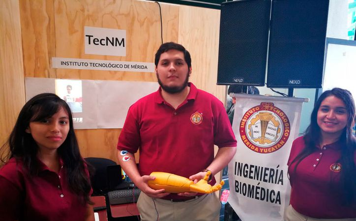 Estudiantes del Instituto Tecnológico de Mérida (ITM) crearon una prótesis de brazo. Buscan sacarlo al mercado, donde el precio será 75 por ciento menor a las que hay actualmente. (Milenio Novedades)