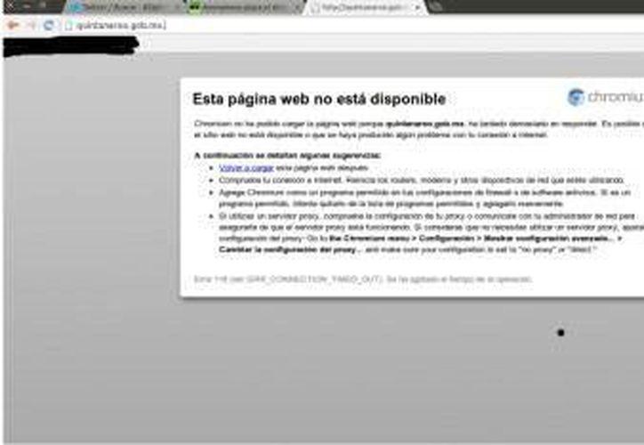 La página estuvo inactiva temporalmente. (Agencias)