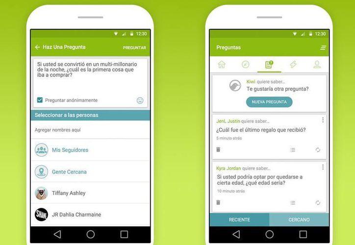 """La aplicación es una especie de """"chismógrafo"""", en el cual los usuarios se inscriben por medio de su cuenta de Facebook o de correo electrónico, para hacer preguntas a sus amigos. (Google Play)"""