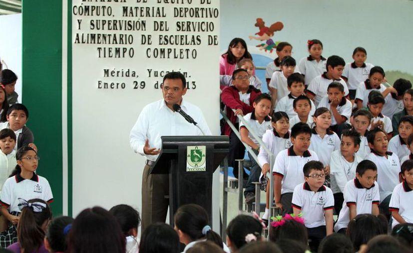El Gobierno de Yucatán anunció que 25,000 estudiantes estarán incluidos Escuelas de Tiempo  Completo. (Cortesía)