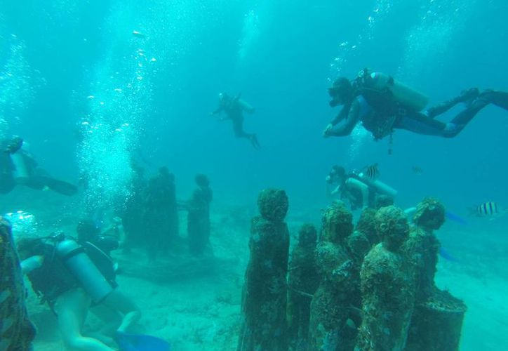 Las piezas del Musa se ubican entre Cancún e Isla Mujeres. (Luis Soto/SIPSE)