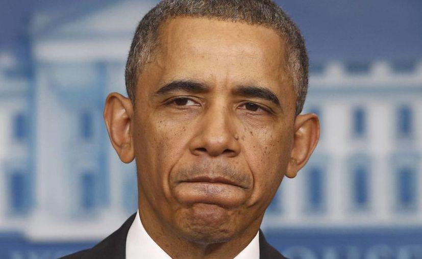Sólo la encuesta de la cadena CBS tiene a Obama con un nivel de aprobación menor, de apenas 37%. (Agencias)