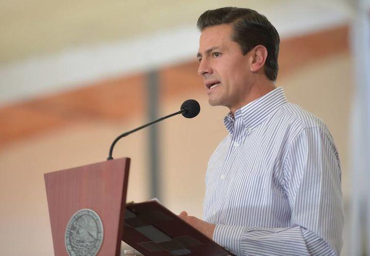 El presidente Peña Nieto reconoció la existencia de 'diferencias puntuales' con el Gobierno de Donald Trump. (Archivo/Notimex)